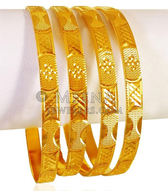 1c149e9e711f9 22kt Gold Bangles Set (Set of 4) ( Set of Bangles )   Bangles in ...