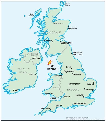 The Isle of Man geographically occupies a central position both in