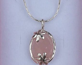 Mothers Day Onyx Silver Pendant Sterling Silver 925 Pendant