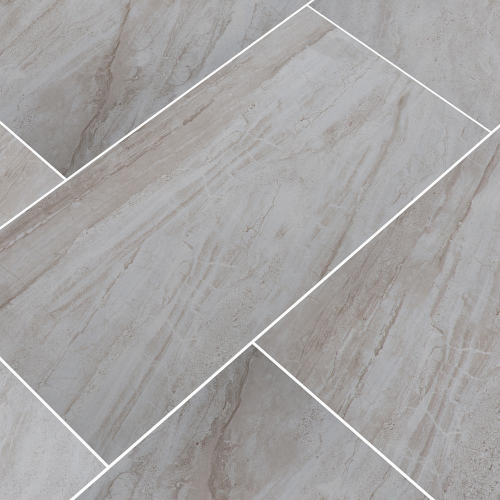 MSI Vigo Gris 12 in. x 24 in. Glazed Ceramic Floor and