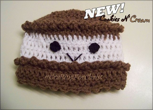 Ravelry: Cookies 'N Cream Hat pattern by Crafting ForChrist Designs