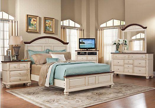 Berkshire Lake King White 7pc Panel Bedroom Bedroom Sets
