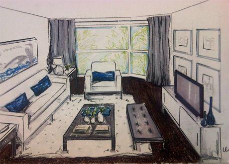 Interior Design Sketches Living Room condo sketch my condo | decor details | pinterest | interior