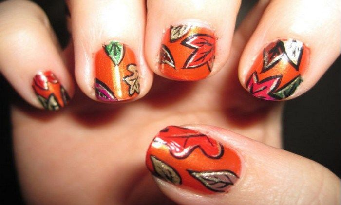 Best \u0026 Easy Fall Leaves Nail Art Design