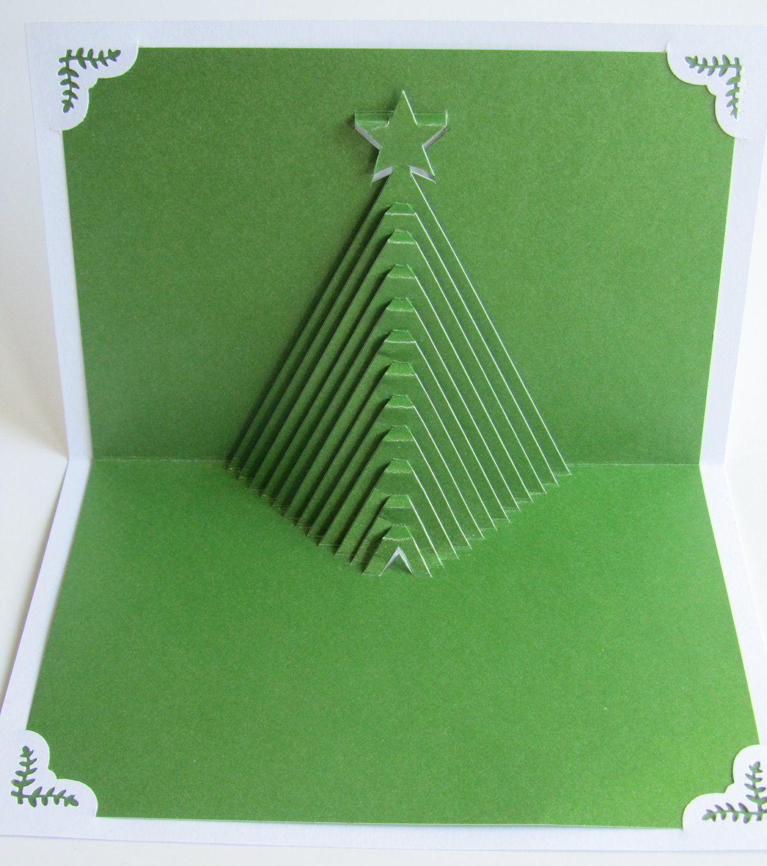 Christmas Tree Pop Up Home D Cor 3D Handmade Cut