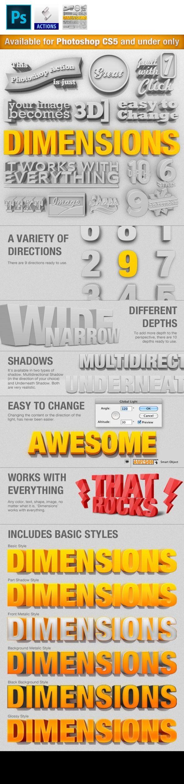3d, 3d action, 3d generator, 3d layer, 3d shape, 3d text