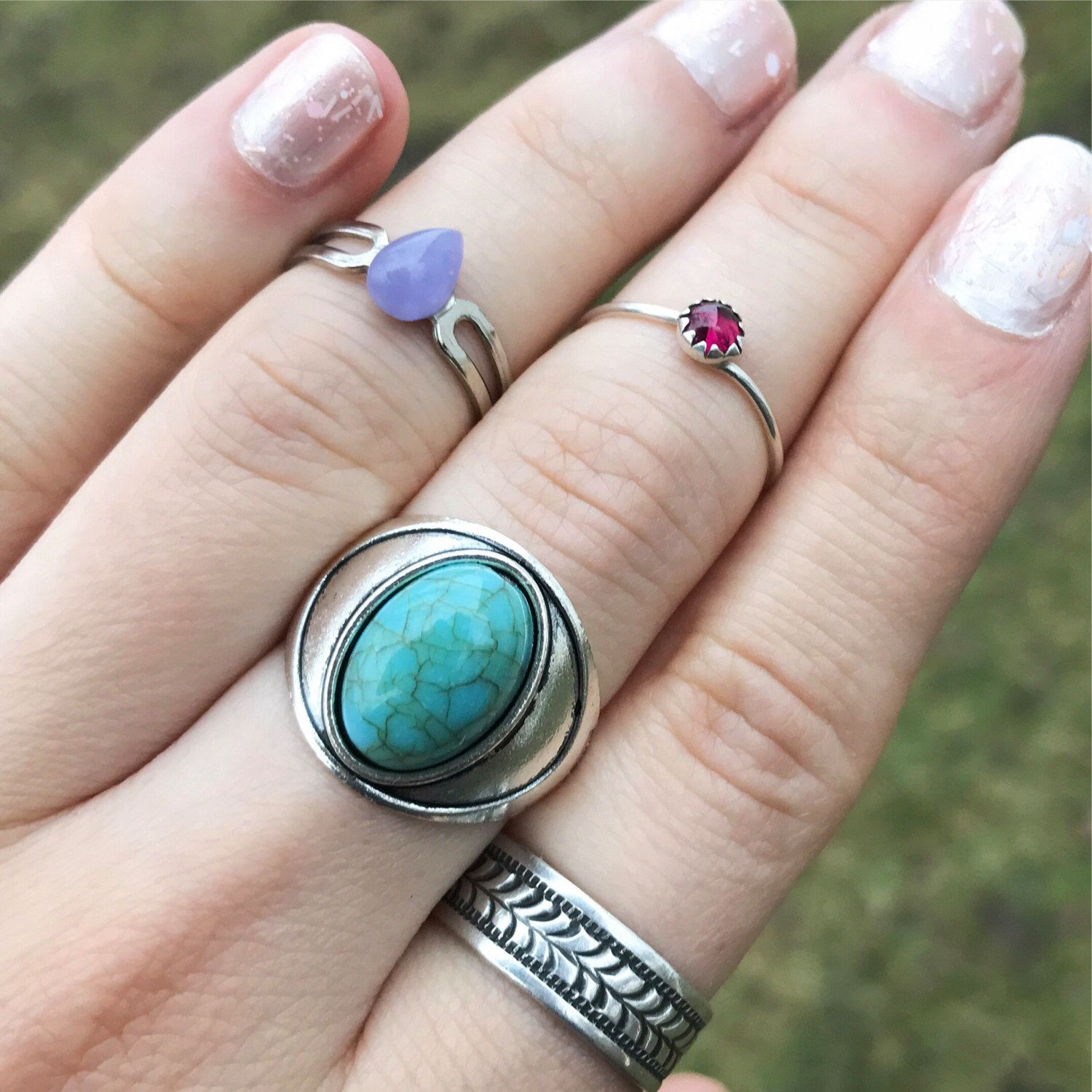 Faux Turquoise Ring / Size 7 Antique Silver Boho Bohemian Statement Gypsy Costume Summer Music Festival Style Free Spirit Chunky Oval Grunge by lydiasvintage on Etsy https://www.etsy.com/listing/492755166/faux-turquoise-ring-size-7-antique