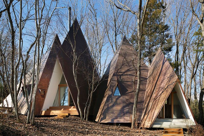 Modernized Teepee Homes is part of architecture - Nap Architects  Japanese studio Nap Architects designed this amazing abode called the Nasu Residence, located in the forest of Tochigi Prefecture  The modernized