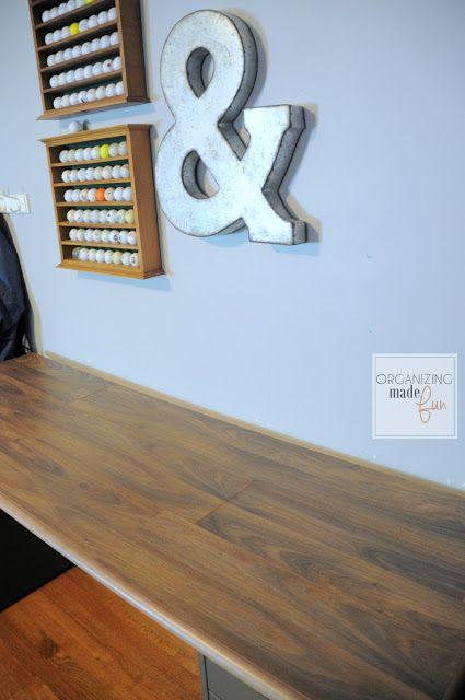 Desktop Made From Laminate Flooring Organizingmadefun Com Diy Desktop Room Update Floor Desk