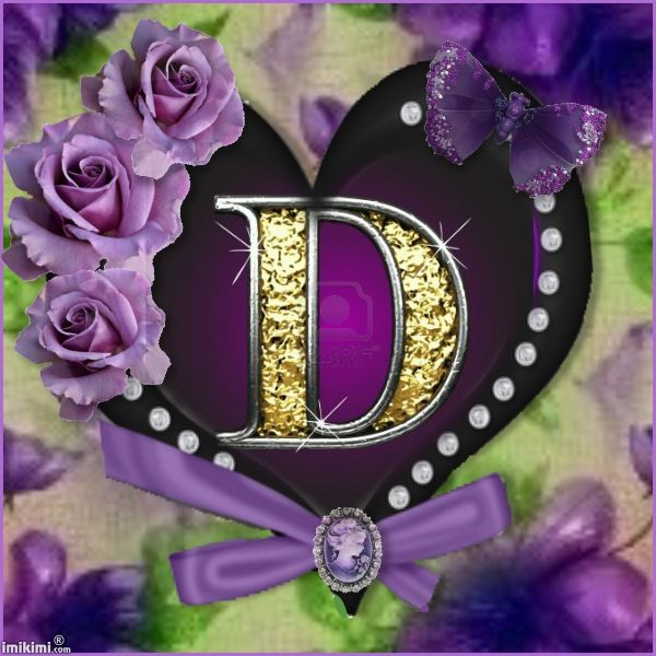 Purple & Black Heart Frame Roses