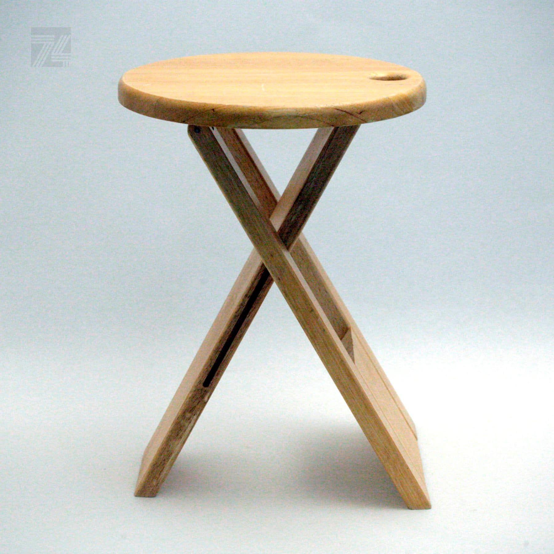 Klapphocker Aus Holz Design Roger Tallon Cyan74 Com Vintage And
