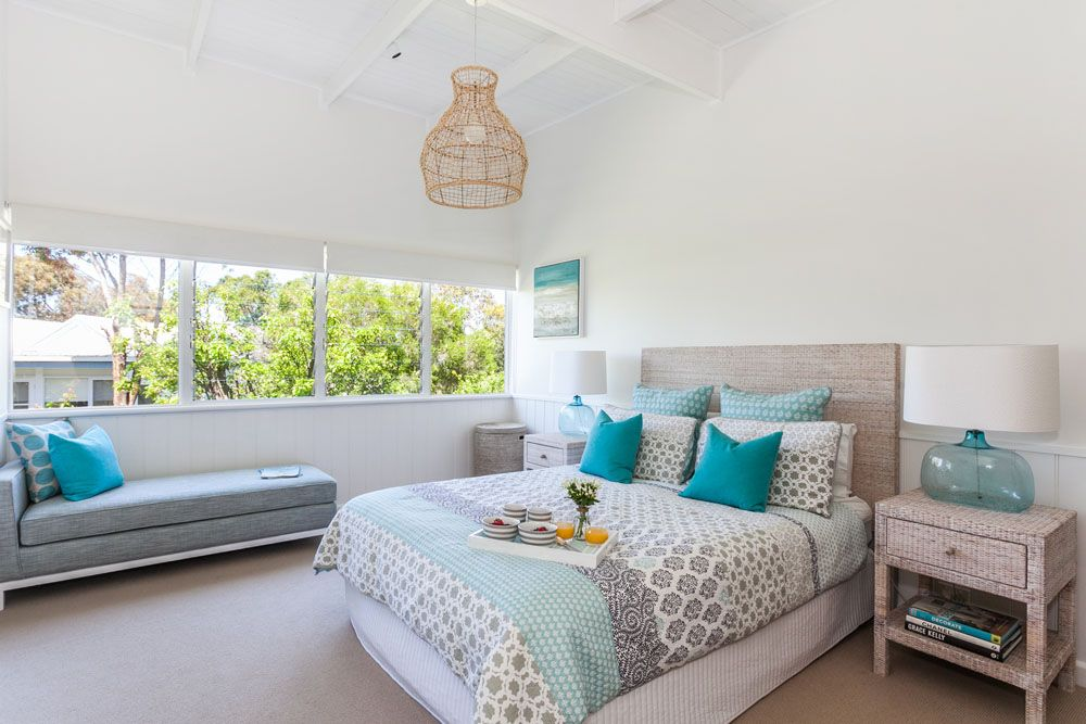 beach house bedrooms. Love the colors beach house master bedroom Serene Beach House Taken Over By Coastal Beauty  Study nook