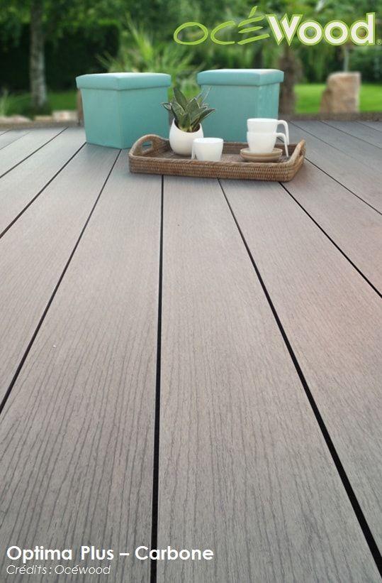 Terrasse en bois composite très chaleureuse Optima Plus - Arabica - terrasse pave et bois