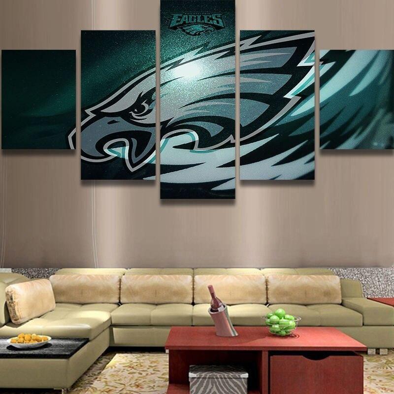 Philadelphia Eagles Canvas Wall Art Cheap For Living Room