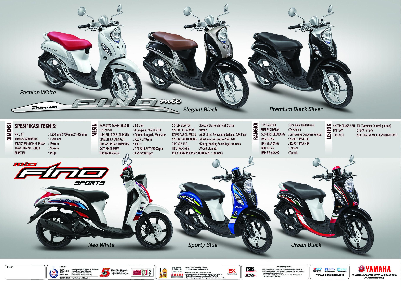 Pilihan Warna Dan Spesifikasi Yamaha Fino Fi Dealer Resmi Kredit