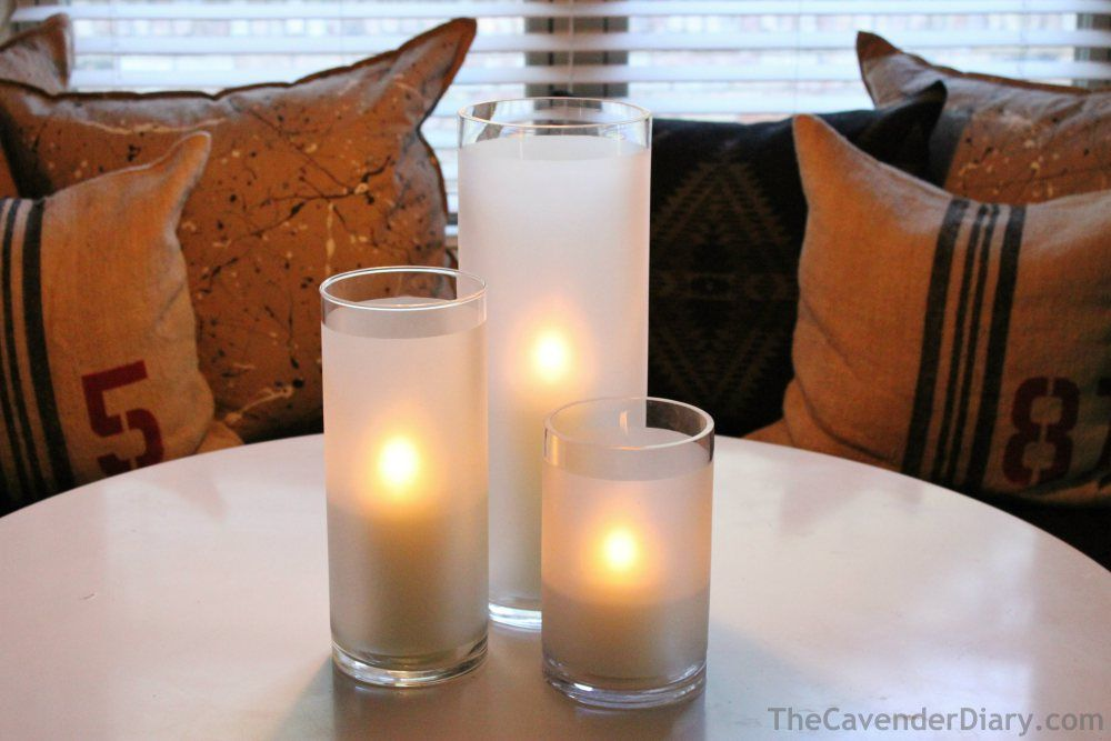 Frosted Hurricanes on the Dining Room Table - The Cavender Diary blog
