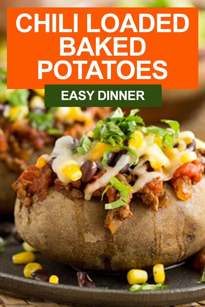 Blend Extend With Mushrooms Chili Loaded Baked Potatoes Recipe In 2020 Easy Potato Recipes Baked Potato Dinner Loaded Baked Potatoes