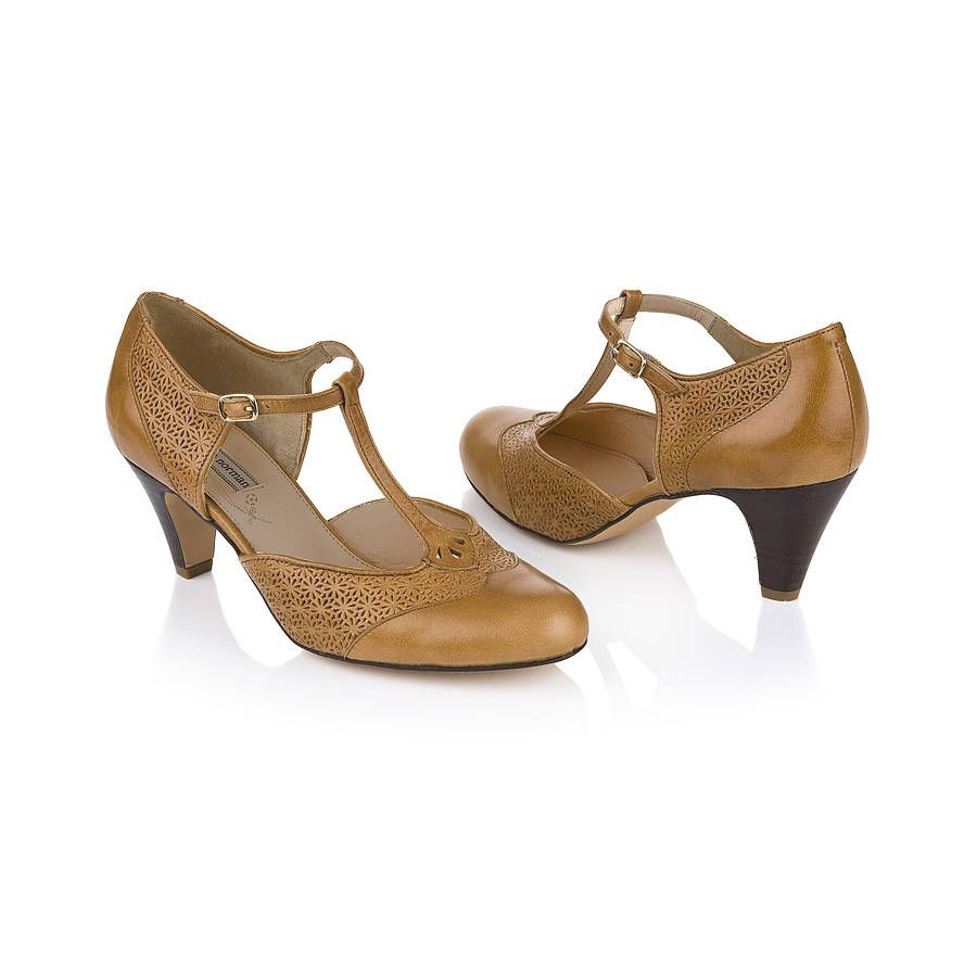 Mabel Leather T Bar Shoes
