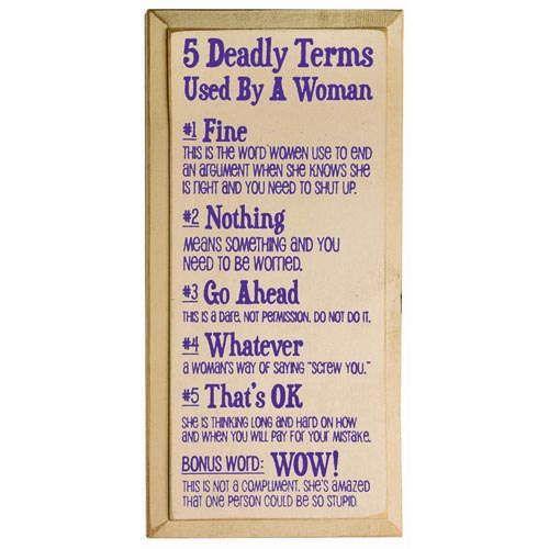 Deadly Terms Plaque