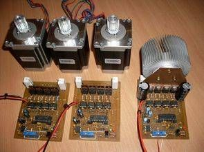 l297 ir2104 irfz44 de alta potencia bipolar motor de pasos