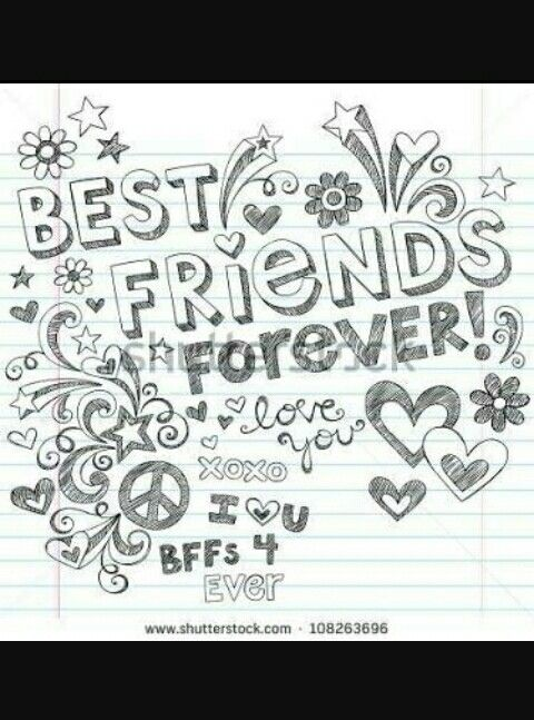 Pin By Suman Mohan On Best Ever Friend Best Friends Forever Cute Coloring Pages Friends Forever