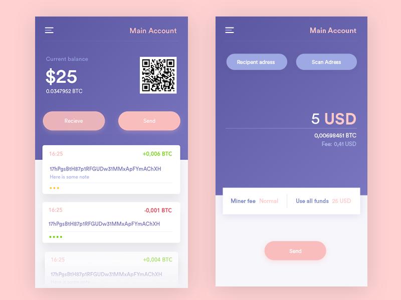 Bitcoin Wallet By CZECH Design Popular Dribbble Shots