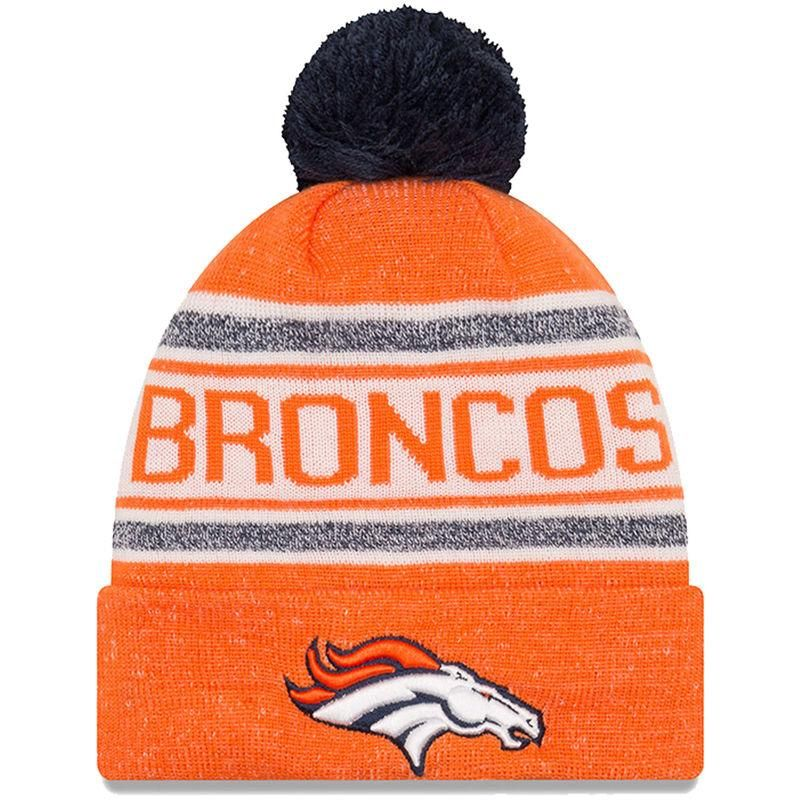 a382c500f Denver Broncos New Era Youth Toasty Cover Pom Cuffed Knit Hat - Orange