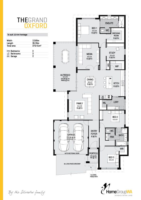 The Grandoxford Floorplan Available Only At Homegroupwa To End Up In Your Perfect Home The Best Modern House Plans Architectural House Plans House Plans