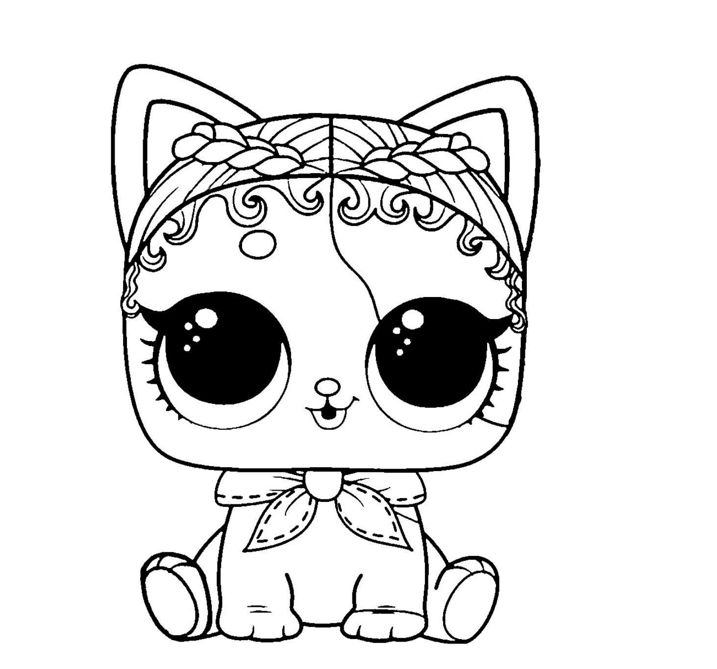 Lol Surprise Pet Coloring Purrrfect Spike In 2020 Cute Coloring Pages Animal Coloring Pages Baby Coloring Pages