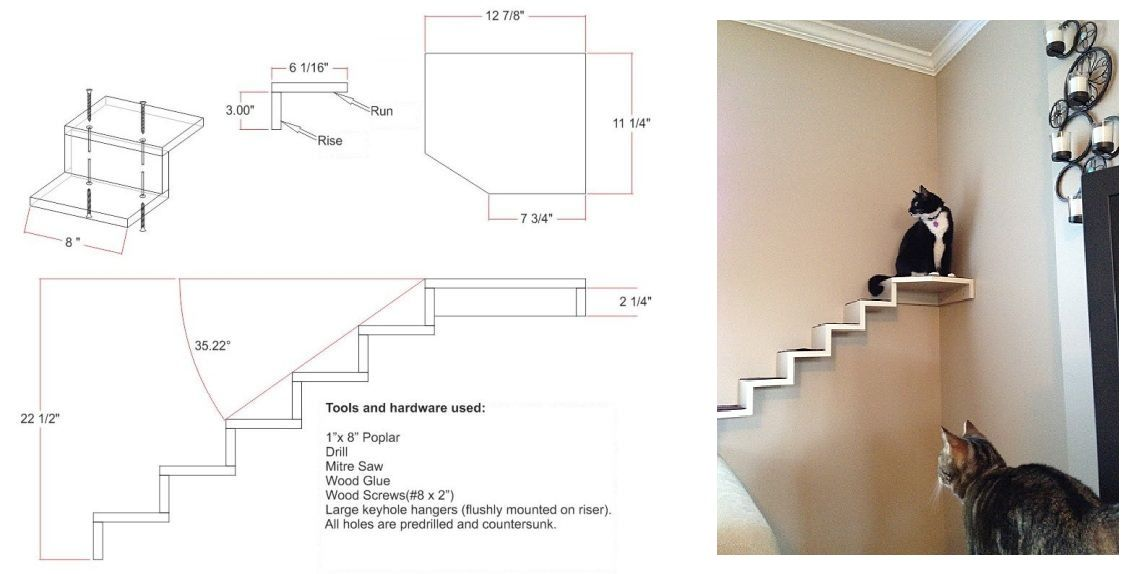pin by maryanne h on cat climbs via stairs shelves cubes circles