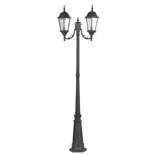 Livex lighting 7554 04 2 light post mount fixture black by livex the livex lighting outdoor black incandescent post lantern is easy to install and includes installation hardware it offers traditional style to your decor aloadofball Image collections