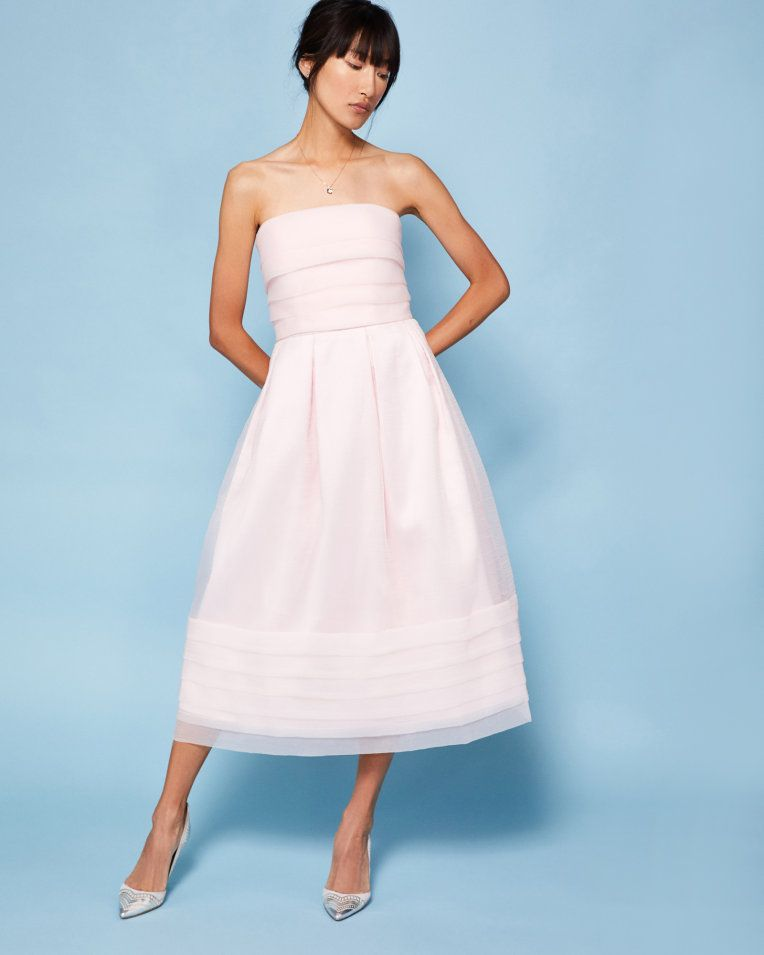 Strapless tiered maxi dress - Pink | Dresses | Ted Baker | 4 home 6 ...