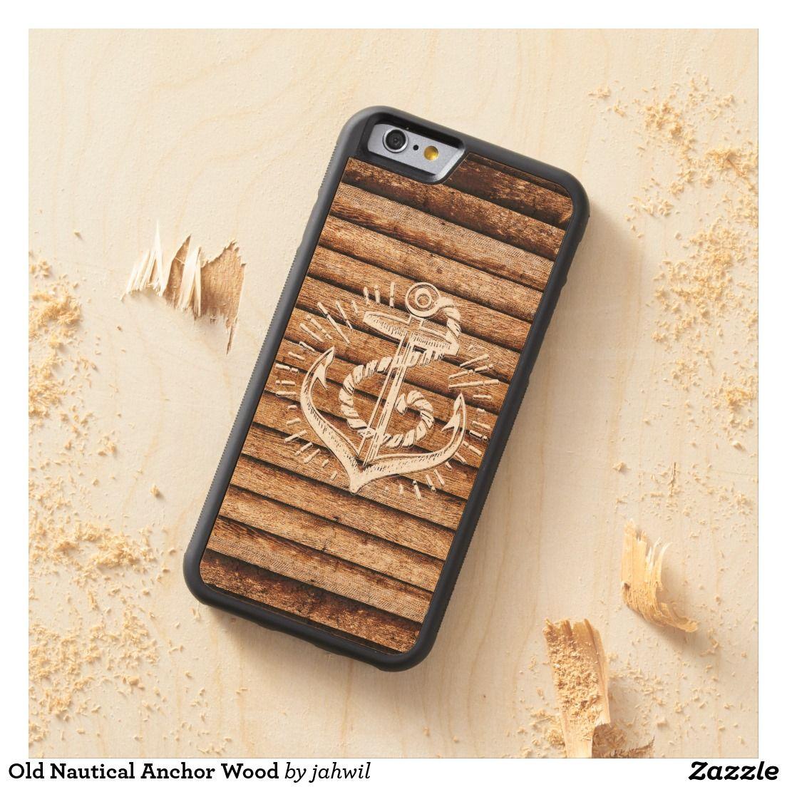 #sailor #oldnauticalanchor #woodanchor #woodcase #iphonecase #grafikprod Old Nautical Anchor Wood Carved® Maple iPhone 6 Bumper