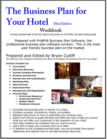 The Business Plan For Your Hotel Operation  For The Hotel