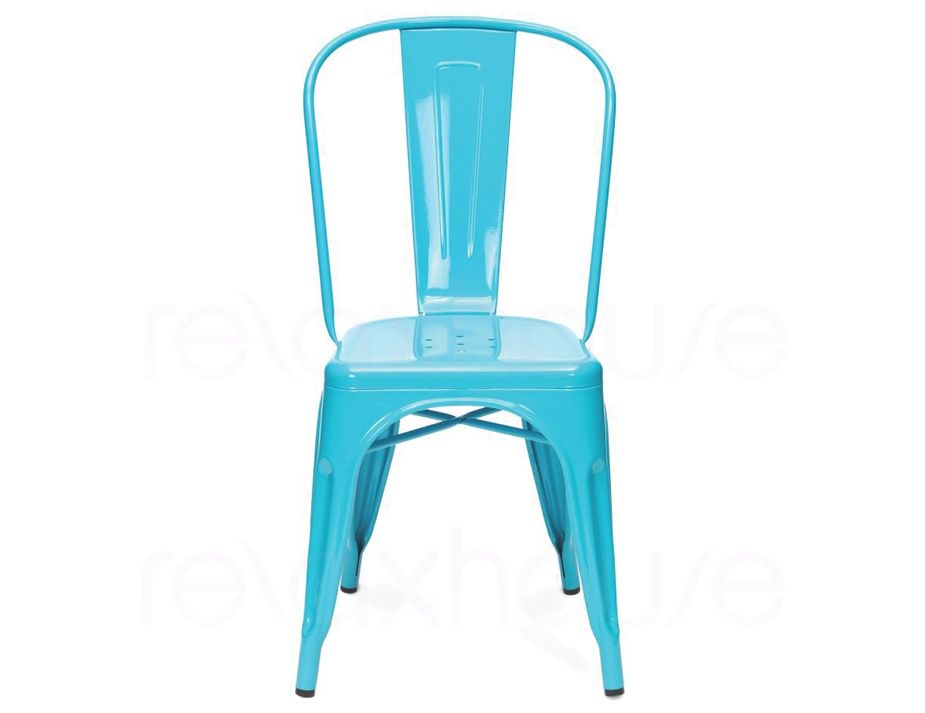 Industry Chair Light Blue Set Of 4 Chair Side Chairs