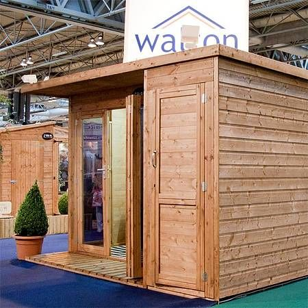 10 X 8 Waltons Contemporary Summerhouse With Side Shed Contemporary Garden Rooms Shed House Plans Summer House