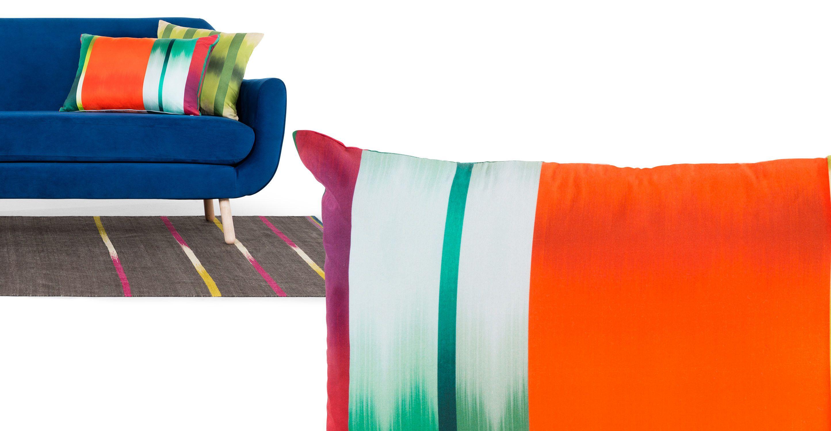 Zap Digital Print Cushion 40 x 60cm, Vortex Orange