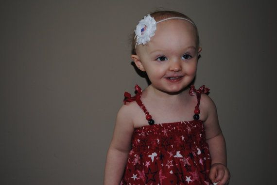 Patriotic Red White & Blue Star Americana 4th of July Independence Day Headband or Hair Clip HB129