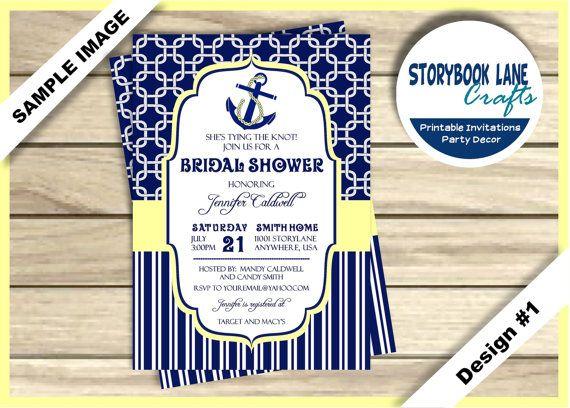 Tying the Knot Bridal Shower Invitation Nautical Bridal Shower