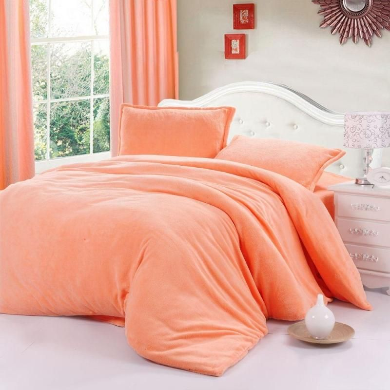 Bedding Set Quilt Cover Hometextile Solid Color Thickening