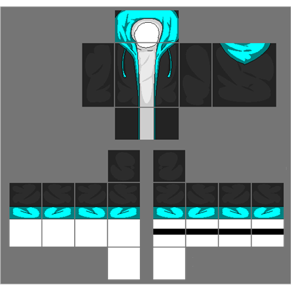 Black jacket with cyan blue hoodie a image by 2otaku4lyfe Roblox designing clothes