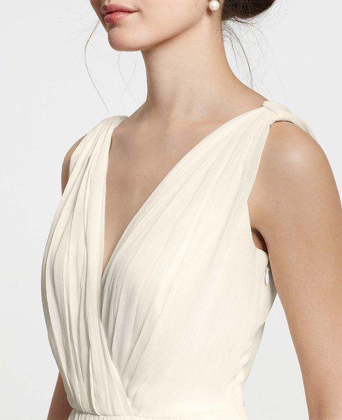 Petite Goddess V Neck Wedding Dress Ann Taylor