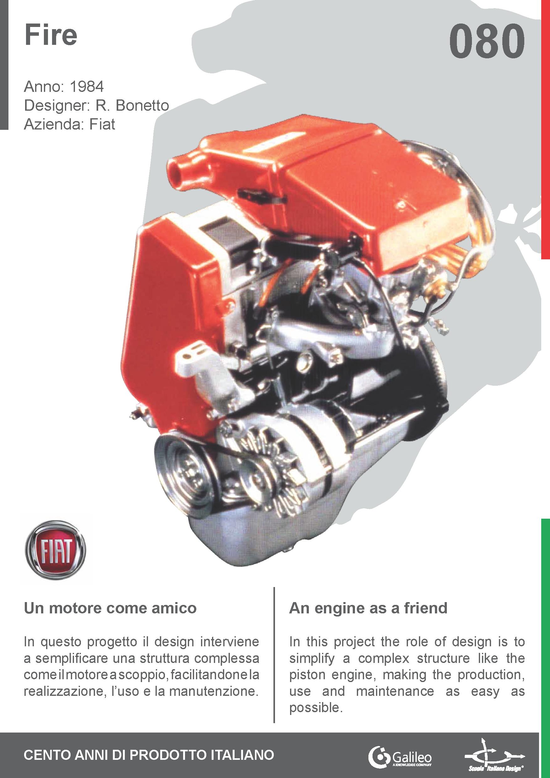 Fire by Rodolfo Bonetto for Fiat (1984) #engine #simplify #car | 100 ...