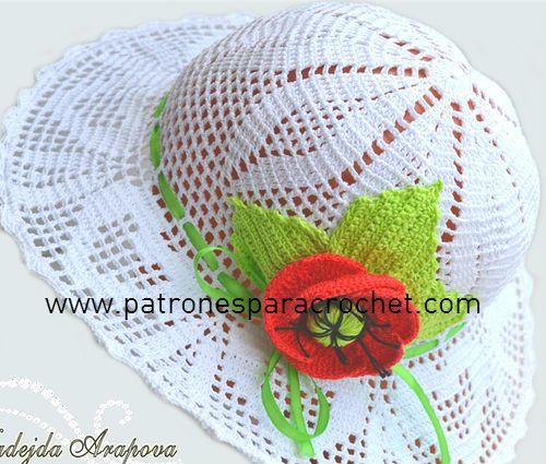 96275020c5542 7 Patrones de Sombreros muy femeninos para tejer al Crochet ...
