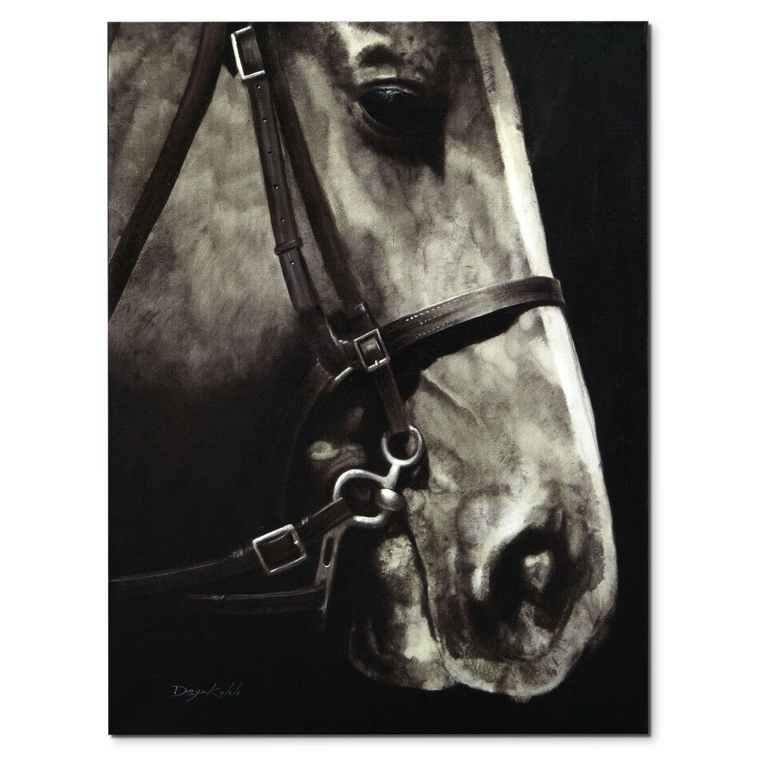 Equine Life Sure It S Life Like In Size But Realistic Painting Techniques Also Make The Sir Edward Canvas Prin Hand Painting Art Horse Face Canvas Print Wall