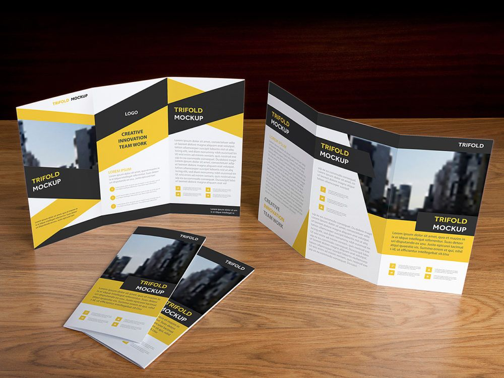 Download Free Brochure Cover Mockup Psd Yellowimages