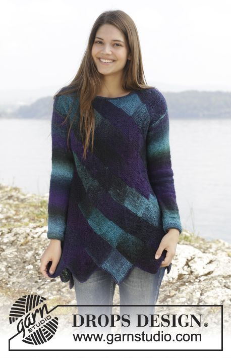 Knitted Drops Jumper With Domino Squares In Delight Size S