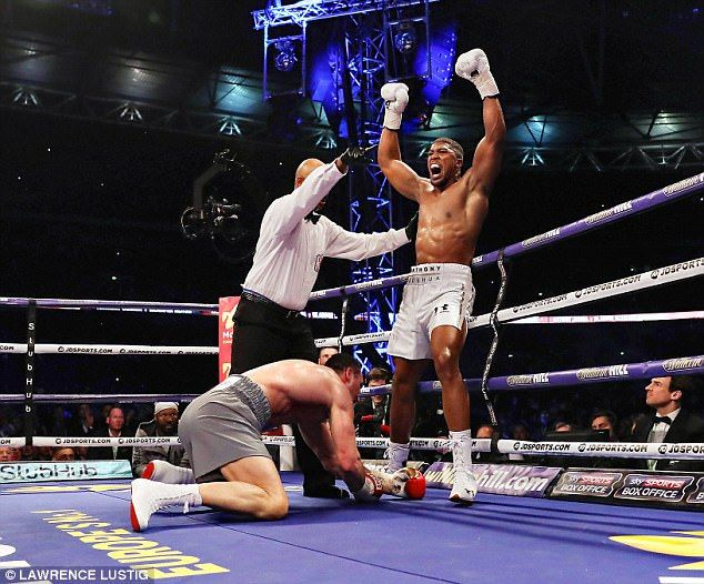 The moment Joshua knew he had Klitschko down and out in front of 90,000 punters...