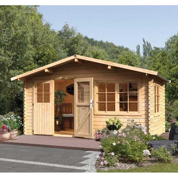 Abri De Jardin 11 49m En Bois Certifie Massif Brut 28mm Hardenberg Karibu Maison Facile Www Maison Fa Abri De Jardin Jardins En Bois Abri De Jardin Bois