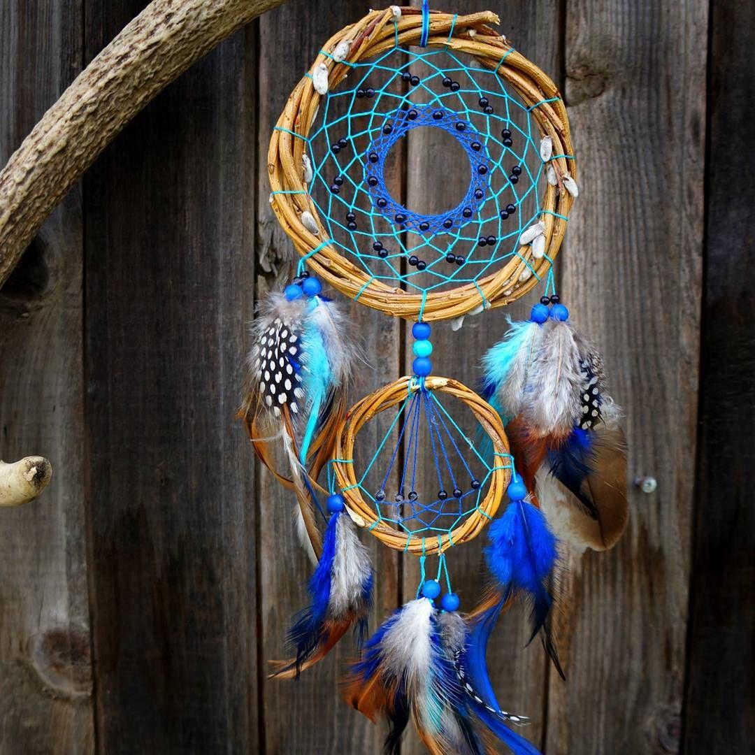 #dreamcatcher #blue #feathers #Nakhodka #Vladivostok #handmade #craft #ловец_снов #добрый_сон #ловушка_для_снов #Находка #Приморье #Владивосток #ива #ручнаяработа